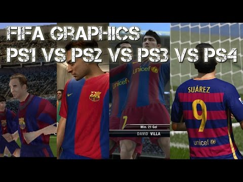 FIFA PS1 vs PS2 vs PS3 vs PS4