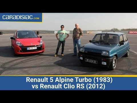 Renault 5 Alpine Turbo (1983) vs Renault Clio RS (2012)