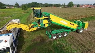 Self-propelled cleaning and overload trailer for potatoes | Hack Harvest