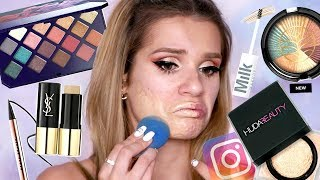 TESTING VIRAL NEW MAKEUP! Worth the HYPE?!