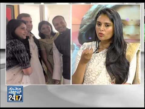 Divya Spandana   Ramya - Election 2014 (ಎಲೆಕ್ಷನ್ 2014) Seg   3 - Suvarna News video