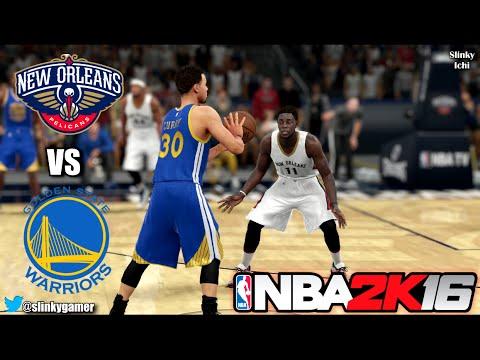 NBA 2K16 Gameplay - Golden State Warriors vs New Orleans Pelicans (Curry vs Davis)