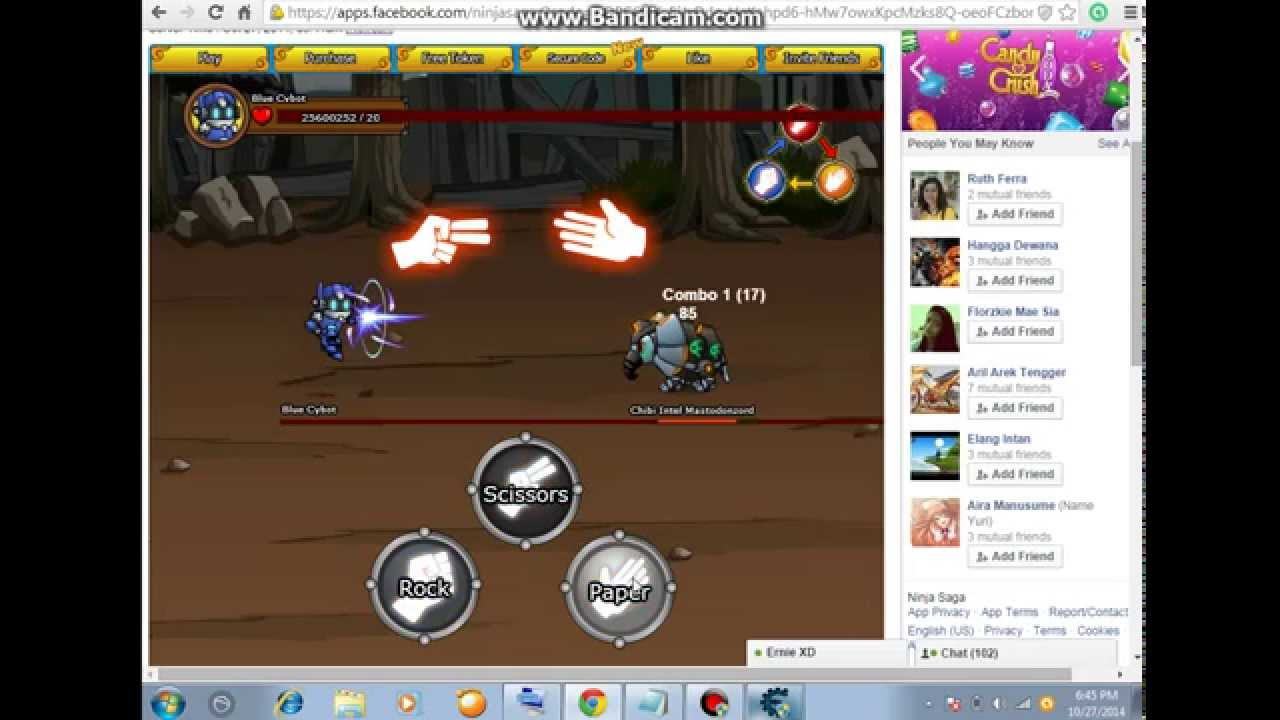 Ninja Saga cheat engine 6.4 hack victory badge - YouTube