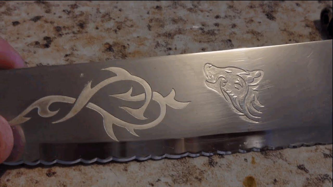 Как сделать трафарет для рисунка на ноже