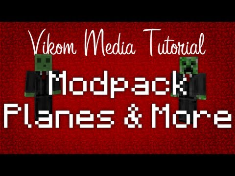 Minecraft - PC/MAC 1.8.1 Planes v16 & More - Easiest Mod Install Ever! Suits in Sack Modpack Tut