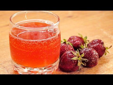 Квас из клубники - натуральная газировка / How to make Strawberry fermented drink ♡ Eng.subtitles