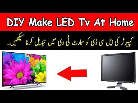 DIY Make LED Tv At Home!How To Make Led Monitor Into Smart LED Tv