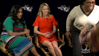 What made Oprah jump out of her seat in this interview for A Wrinkle In Time?