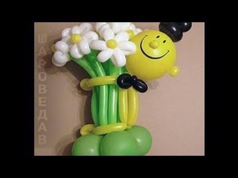 цветов из воздушных шаров.