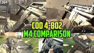 COD 4-BO2 M4 Comparison