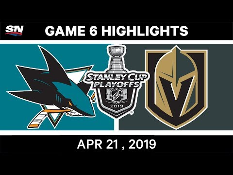 NHL Highlights | Sharks Vs. Golden Knights, Game 6 - April 21, 2019