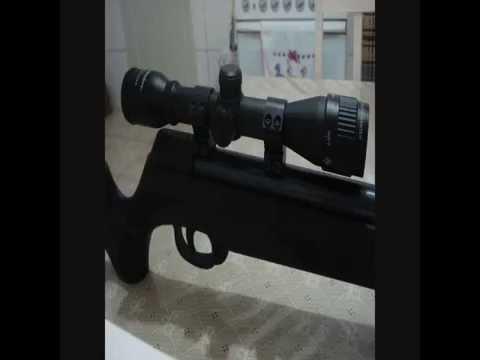 Carabina de pressão CBC Montenegro F22 GII cal. 5.5 (.22) com luneta Nikko Stirling 4x32 AO