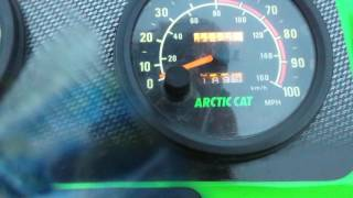 1998 Arctic Cat ZR 600 EFI speed run