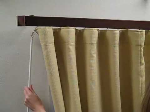 The Wave Fold Drapery Video How To Hang The Product For