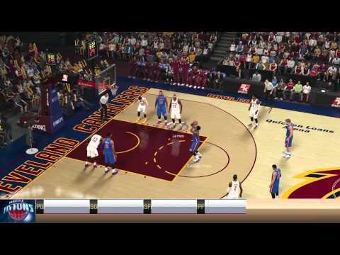 NBA2k15 PS4 MyGMゲームプレイ Detroit Pistons vs Cleveland Cavaliers レブロン