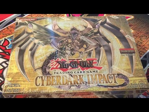 Yugioh Gx Cyberdark Impact 1st Edition Booster Box Opening video