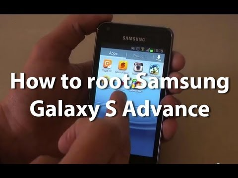 How to root the Samsung Galaxy S Advance on 4.1.2 Jelly Bean
