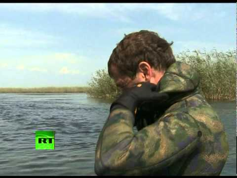 Medvedev, Putin dive & fish the Volga