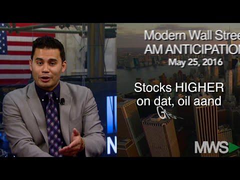 Modern Wall Street AM Anticipation: May 25, 2016