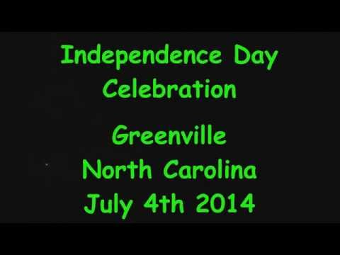 Fireworks in Greenville, NC 7-4-2014