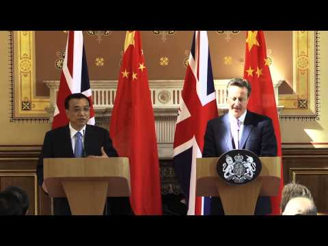 Prime Minister David Cameron and Premier Li Keqiang joint press conference