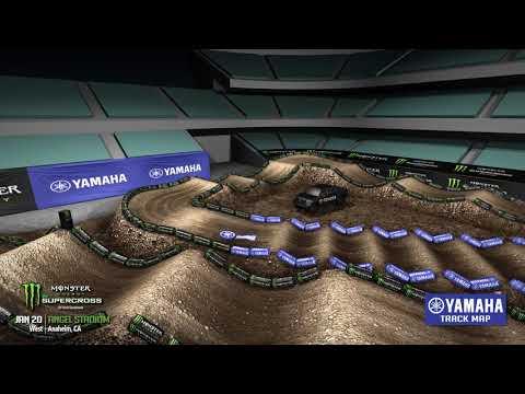 2018 Yamaha Track Map: Anaheim 2