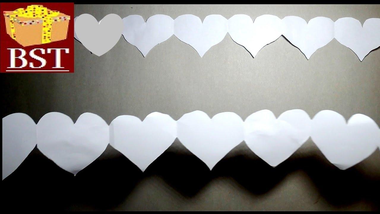 Гирлянды сердечками из бумаги своими руками 64