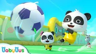 Little Panda's Soccer Game | Football Player Pretend Play | Sport Song for Kids | BabyBus