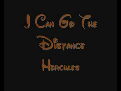 I Can Go The Distance - Hercules Lyrics video