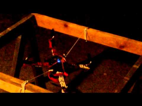 Quadcopter custom software testing/PID tuning, P too high, pitch axis