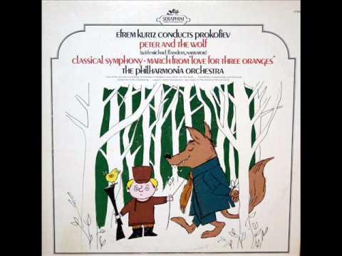 Peter and the Wolf, Michael Flanders, 1959:Петя и волк - Prokofiev, Efrem Kurtz - Part 1