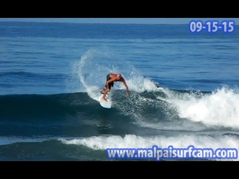Surfing Costa Rica, www malpaisurfcam com 09 15 15 Santa Teresa Mal Pais