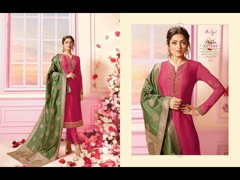 Plain Anarkali suit with printed dupatta design/simple Anarkali suit with printed dupatta