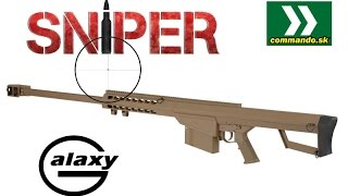 Airsoft Sniper Galaxy G31D Tan manual 6mm