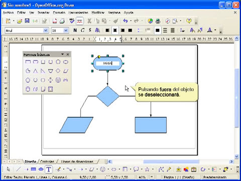 13 Tutorial de Draw de OpenOffice o LIbreOffice Diagramas de flujo