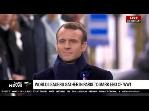 World leaders gather for World War 1 Armistice event, Paris