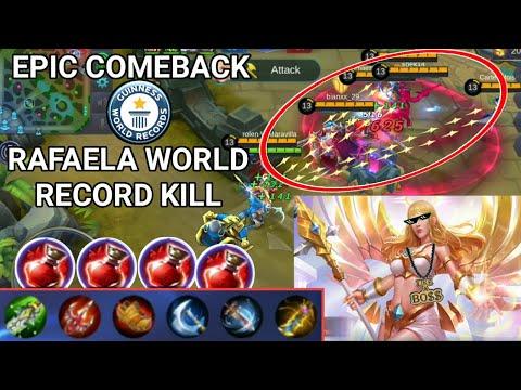 EPIC COMEBACK | RAFAELA HIGHEST KILL | BEST TROLL EVER | MOBILE LEGENDS