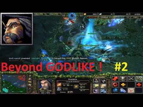 DotA 6.83d - Admiral, Kunkka Beyond GODLIKE ! #2
