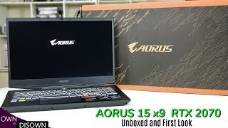 Gigabyte Aorus 15 x9 RTX 2070 - Unboxed And First Impressions !