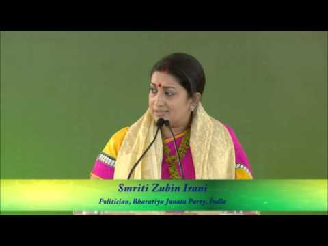 Hon. Smt. Smriti Zubin Irani - Minister of HRD of Government of India - Speaker, IWC 2014