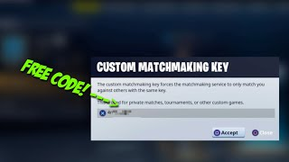 (Fortnite Battle Royale) How To Get Custom MatchMaking Code For Free! 1.37 MB