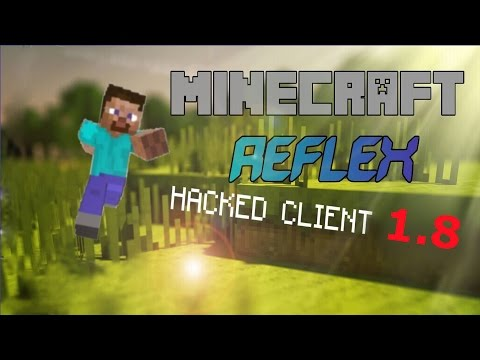 Minecraft 1.8 Hacked Client : REFLEX ! - Timer + Killaura =  ♥ [HD]