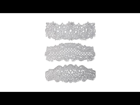 Crafter's Companion 3pack Floral Lace Edge'ables Dies