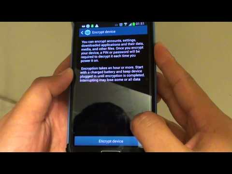 Samsung Galaxy S4: How to Encrypt/Decrypt Your Phone Internal Memory