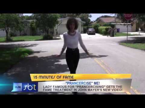 'Prancercise' queen dances into John Mayer video