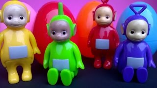 Surprise Eggs and Teletubbies - Unboxing. Телепузики, 天线宝宝, Jajko niespodzianka, تليتب
