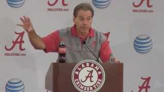 Nick Saban gets fired up, spews profanity about overlooking Charleston Southern
