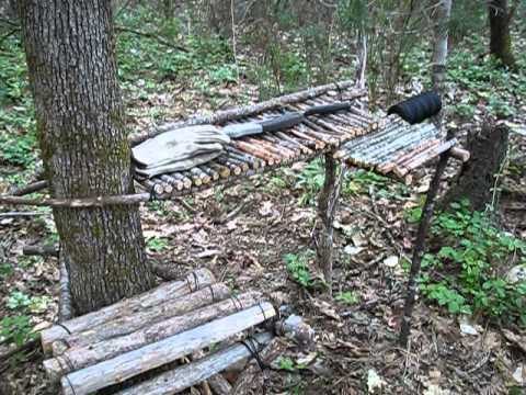 Bushcraft Camp Table Making Part 3 Of 3 Youtube