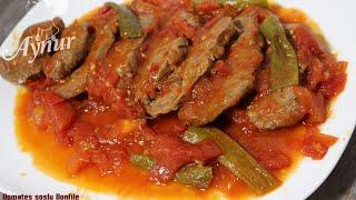 Domates soslu dana bonfile tarifi# Yumusacik bonfile nasıl yapılır ?