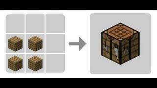 Como se Hace una Mesa de crafteo en Minecraft PC